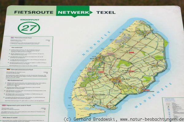 Karte Texel.Texel Vogelarten Vogelzug Bilder Natur Beobachtungen